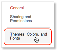 Themes, Colors, and Fonts