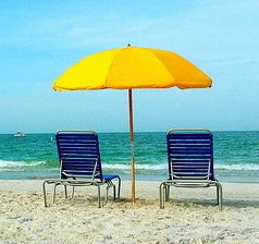 Cropped beach umbrella