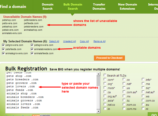 Check your desired domain name's availability from GoDaddy