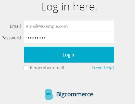 Store Template login