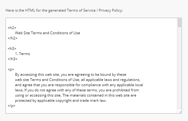 Terms of Service by Ben Nadel
