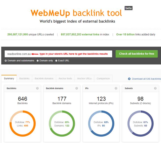 WebMeUp tool 1