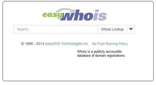 Whois public database