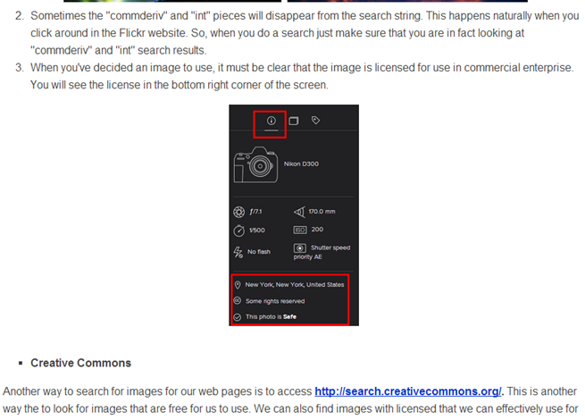 Example of a screenshot