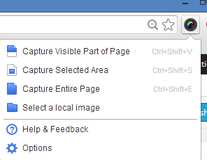 Awesome screenshot extension on Chrome