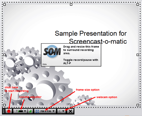 Sample screencast