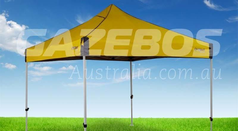 a yellow gazebo