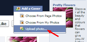 Uploading your cover photo