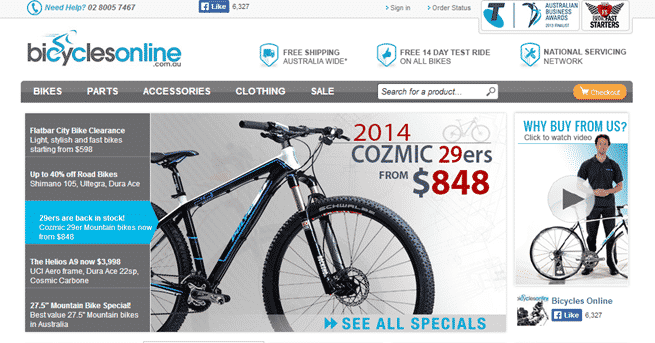 Bicycles Online example