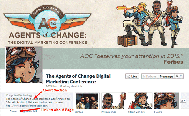 The Agent of Change About section