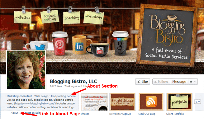 Blogging Bistro's About section