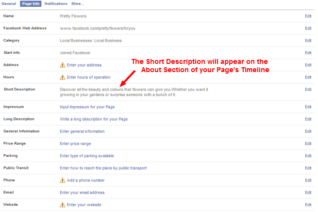 About Page information