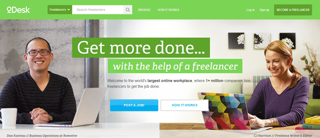 oDesk Home Page