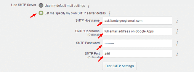 setting up SMTP server