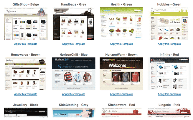 BigCommerce Design templates
