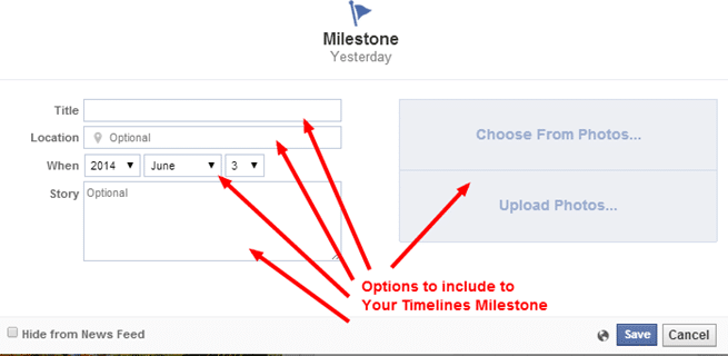Adding Milestone information