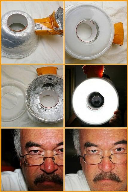 Improvised ring flash