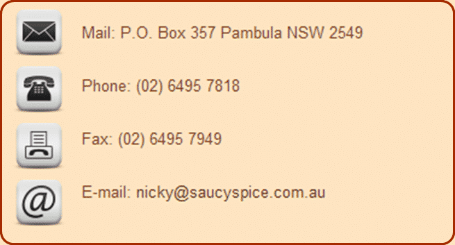 Saucy Spice Contact Page