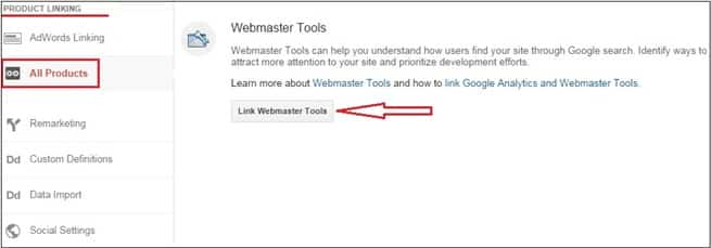 Method 3: Using Google Analytics in Google Webmaster Tools
