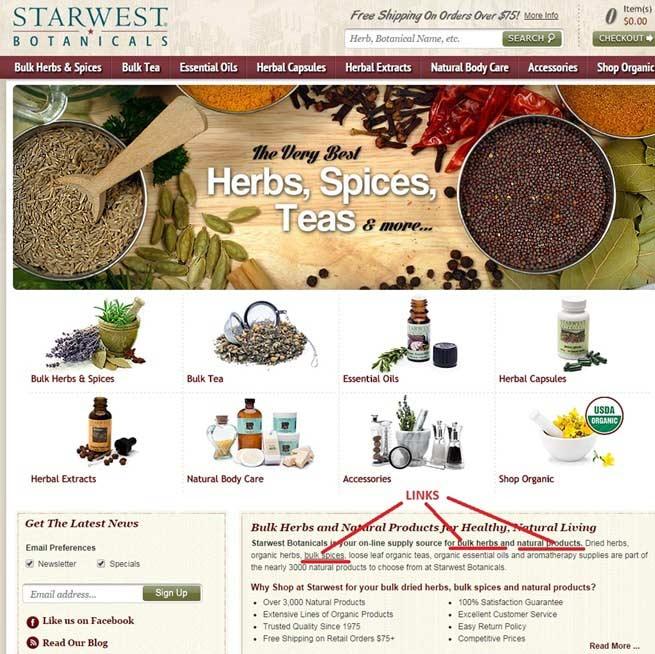 Starwest-Botanicals Homepage
