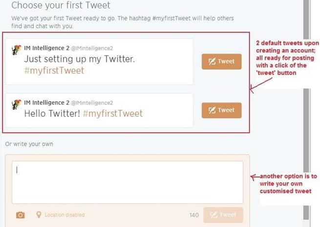 Sending tweets