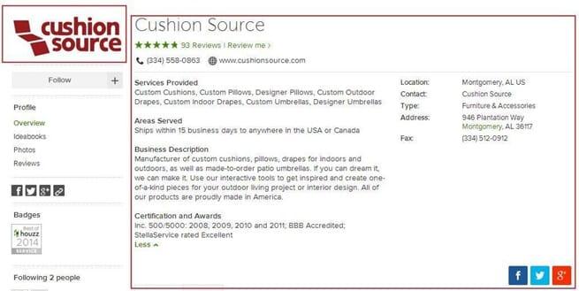 Houss Pro Profile Cushion Source