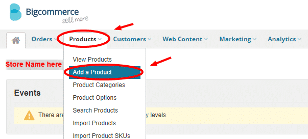 Product tab in BigCommerce
