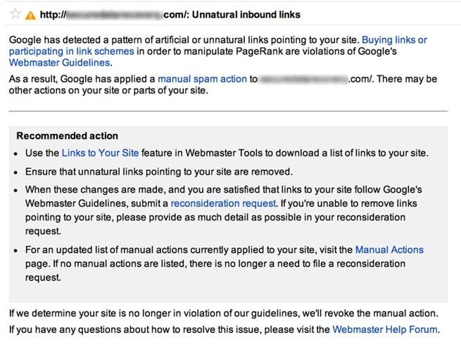 Unnatural link message