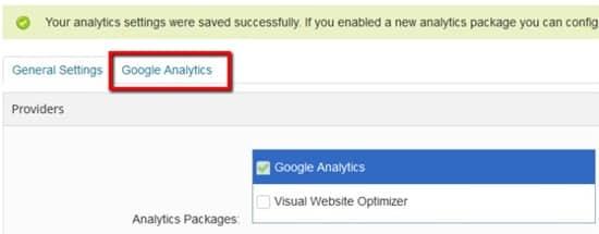 BigCommerce Goals Analytics tab