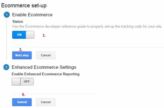 Enable eCommerce