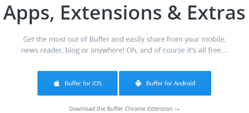 Buffer Apps and Extras