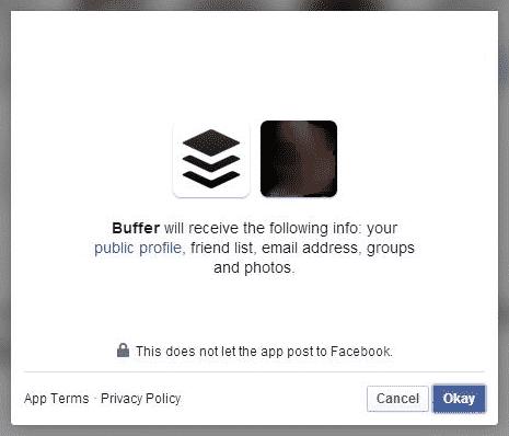 Facebook authorisation