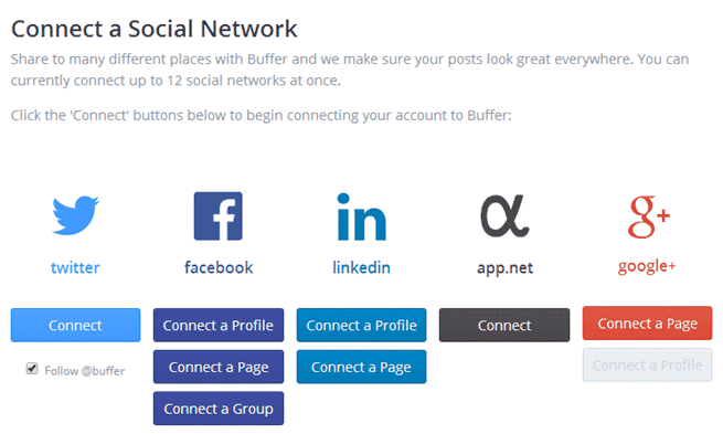 Connect to Social media network account