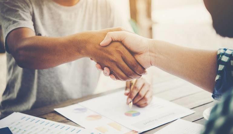 people handshake