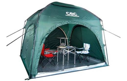 photo of a green coloured outdoor camping tent