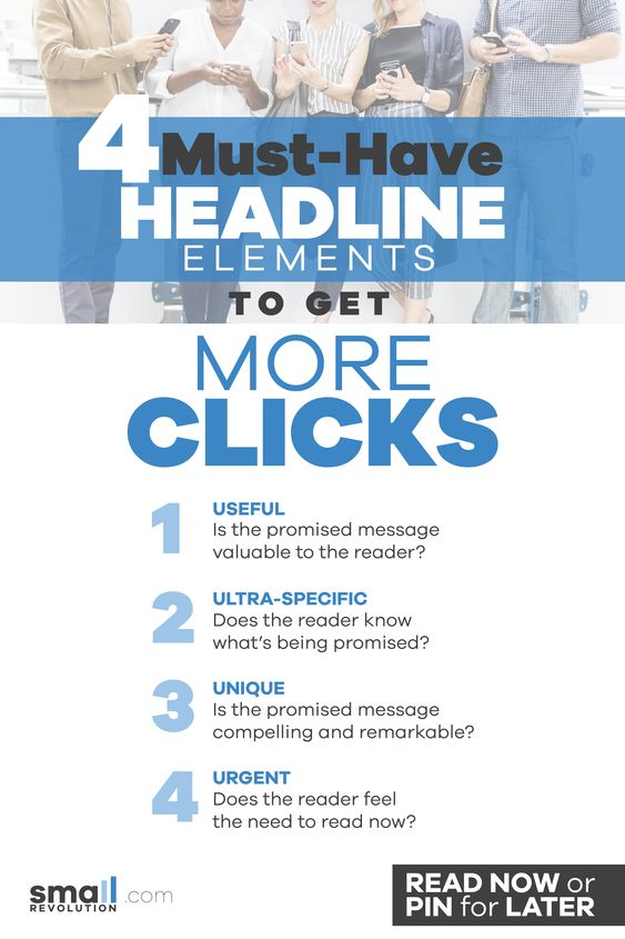 4 must-have headline elements to get more clicks