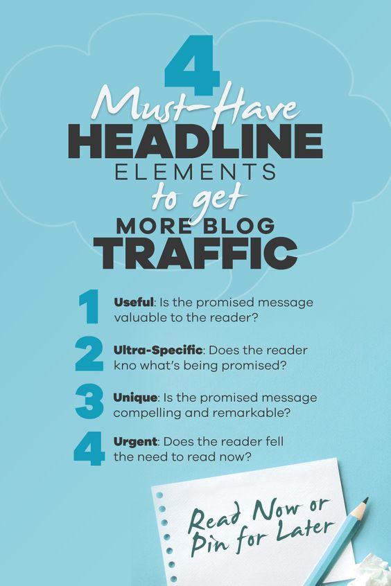 4 must-have headline elements to get more blog traffic