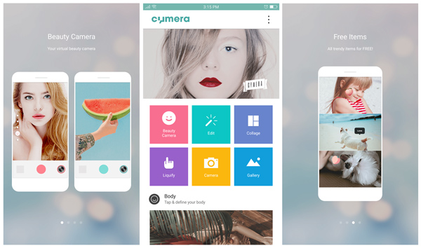 cymera camera app interface