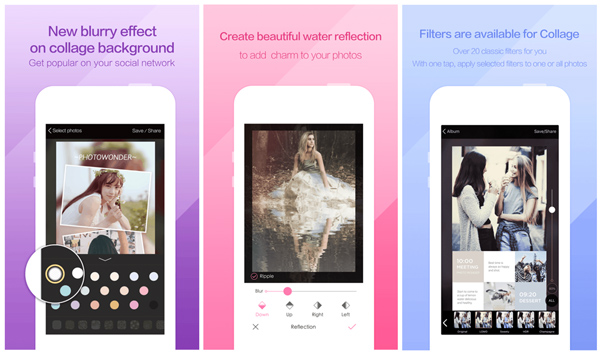 photowonder app interface