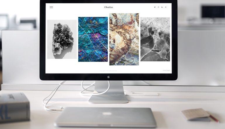 iMac computer screen