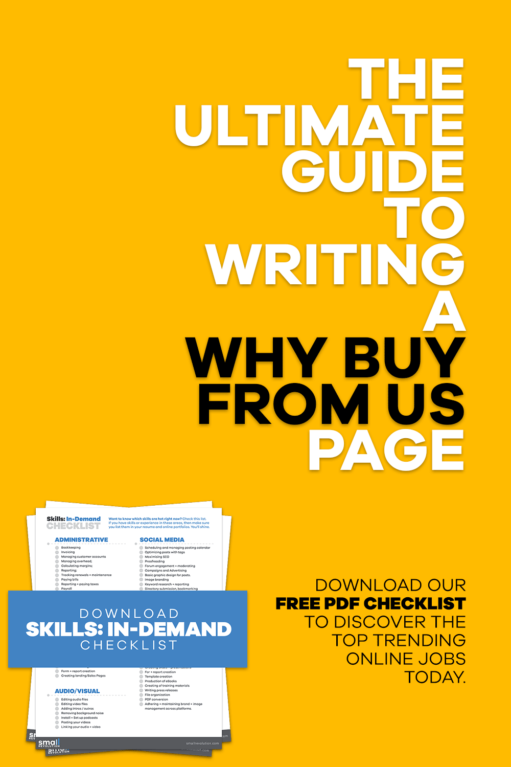 The Ultimate Guide to Writing a Why Buy From Us Page