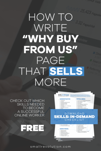 How to Write a Why Buy From Us Page That Sells More