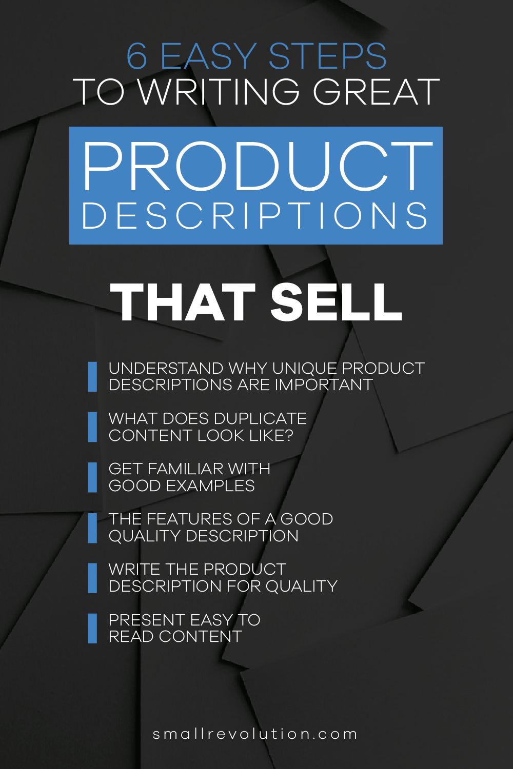 8 Easy Steps to Writing Great Product Descriptions That Sell