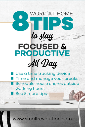 8 Work from home tips to stay focused and productive all day