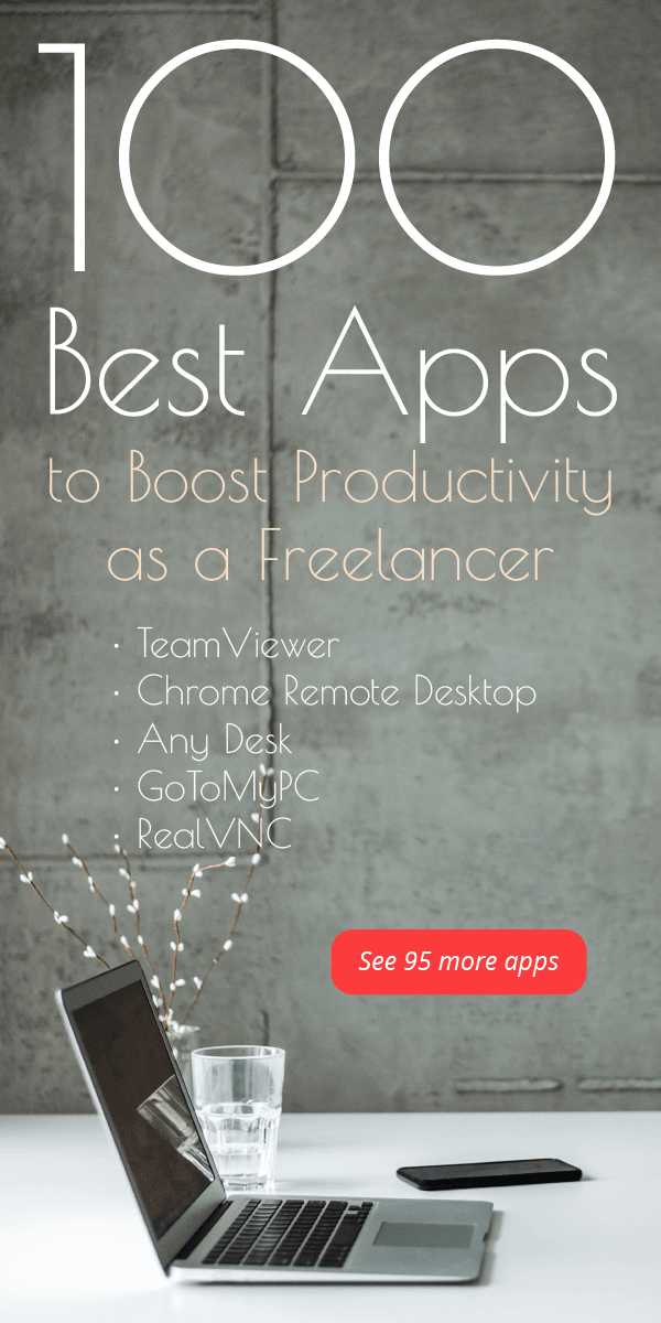 100 best apps to boost productivity as a freelancer