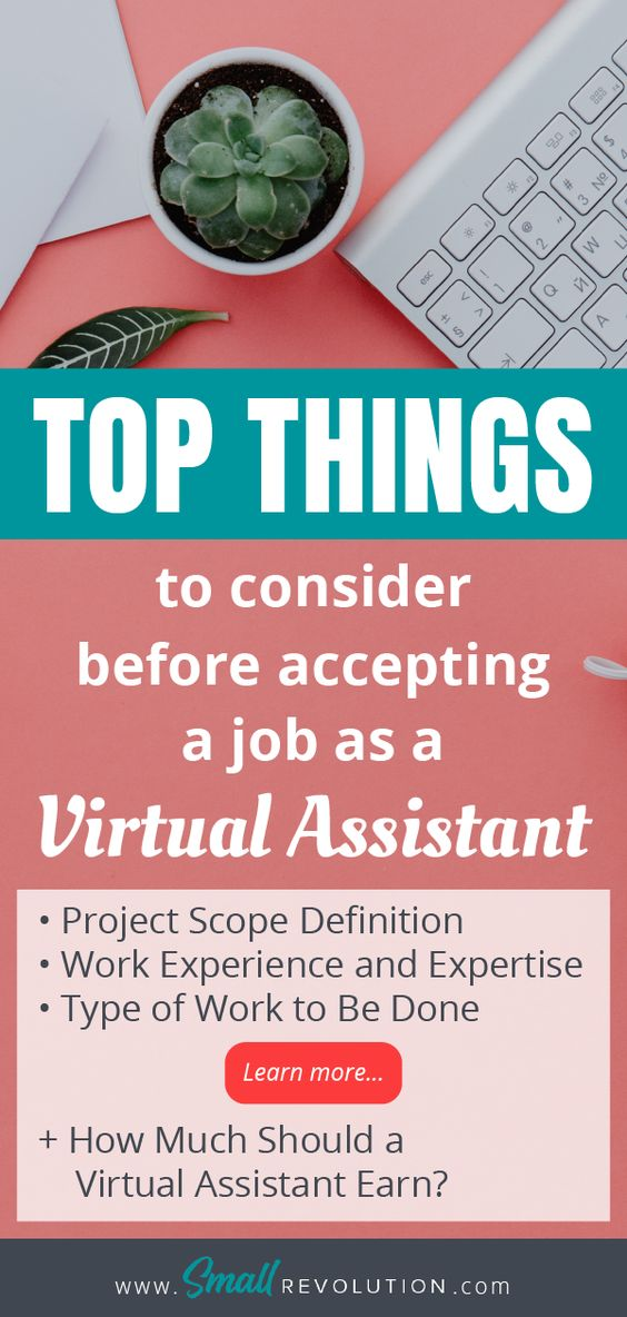 Top things to consider before accepting a job as a Virtual Assistant
