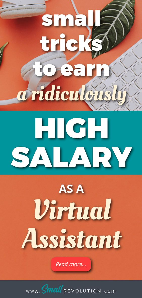 Small tricks to earn a high salary as a virtual assistant