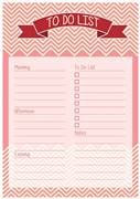 red and pink zizag designed to-do list