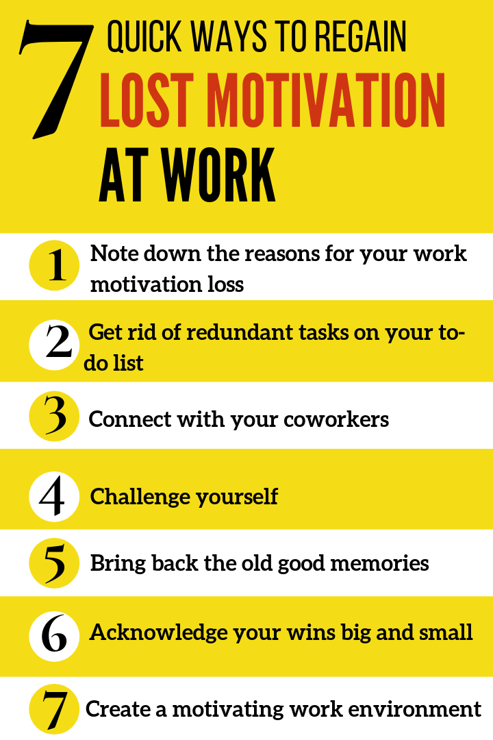 7 Quick Ways to Regain Lost Motivation at Work