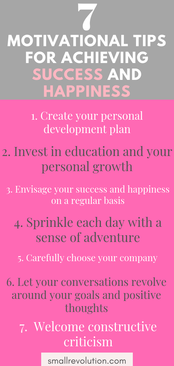 7 motivational tips for achieving success and happiness